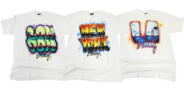 "футболки Stussy Airbrush ""City"" Series"